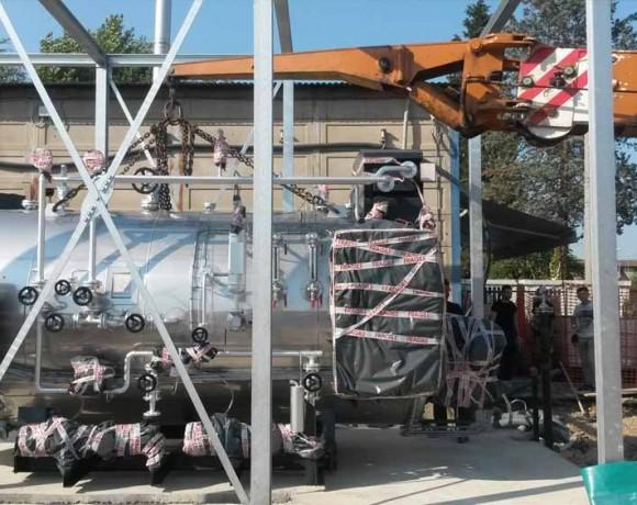 Posizionamento generatore: nuovo generatore 3TH presso industria tessile prov. Prato (Luglio 2015)