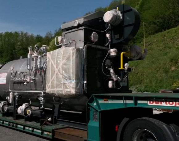 Consegna nuovo generatore 5TH presso industria cartaria prov. PT (Giugno 2015)